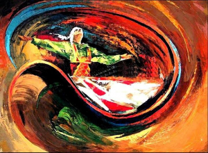 Painting of a Dervish Dancer